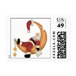 Santa Sleeping on the Job Postage