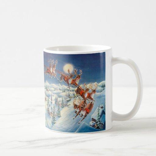 SANTA & SLEIGH by SHARON SHARPE Coffee Mugs