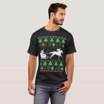 Santa Sleigh Horse Christmas Ugly Sweater