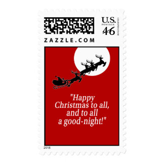 Santa Sleigh Postage