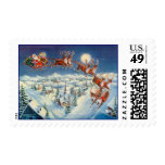 SANTA, SLEIGH & REINDEER by SHARON SHARPE Stamp