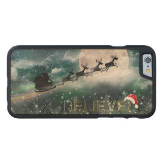 Santa Sleigh Reindeer Christmas iPhone 6Wood Case Carved® Maple iPhone 6 Case