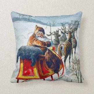 Santa Sleigh Ride Pillow