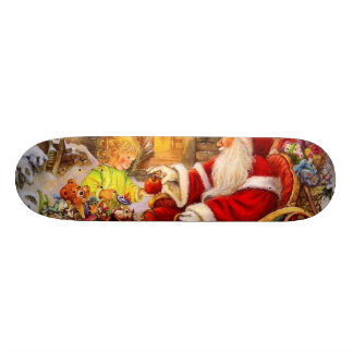 Santa sleigh - Santa claus illustration Skateboard