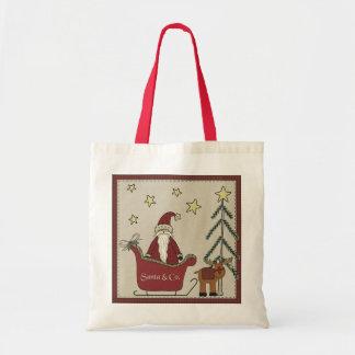 Santa Sleigh Scene Gift Bag
