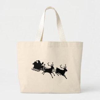 Santa Sleigh Silhouette Bag