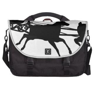 Santa Sleigh Silhouette Laptop Commuter Bag