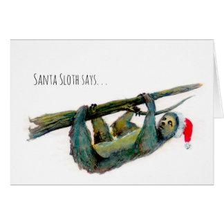 Santa Sloth: Happy Belated Christmas! Card