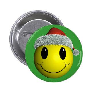 Santa Smiley Button