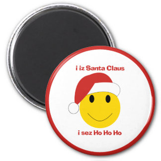 Santa Smiley Christmas cards and gifts. Magnet