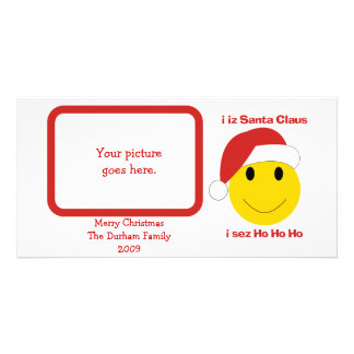 Santa Smiley Christmas cards and gifts. Picture Card