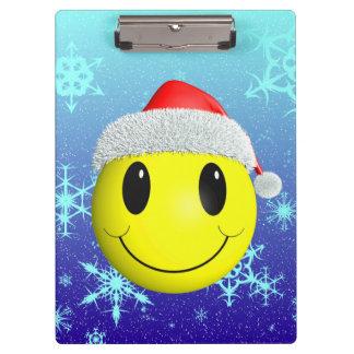 Santa Smiley Clipboard