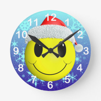 Santa Smiley Clock
