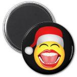 Santa Smiley Face Funny Christmas Fridge Magnet Refrigerator Magnets