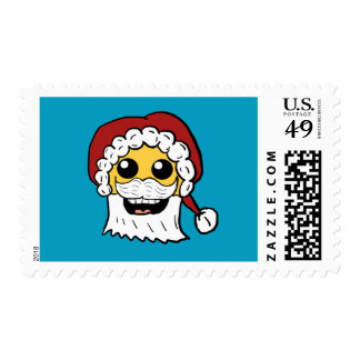 Santa Smiley Face Postage