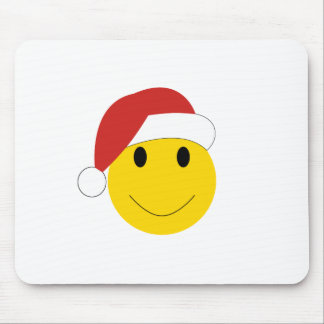 Santa Smiley Holiday cards and gifts. Mouse Pad