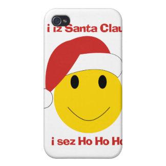 Santa smiley i sez ho ho ho iphone case
