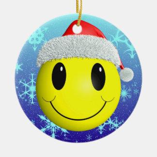 Santa Smiley Christmas Tree Ornaments
