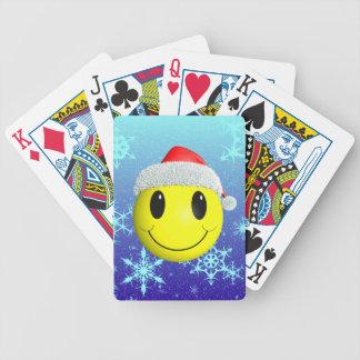 Santa Smiley Bicycle Card Decks