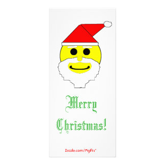 Santa Smiley Rack Card