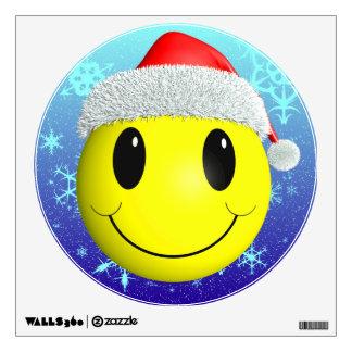 Santa Smiley Wall Sticker