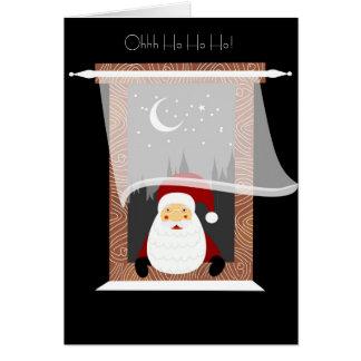 Santa Sneeking a Peek Cards