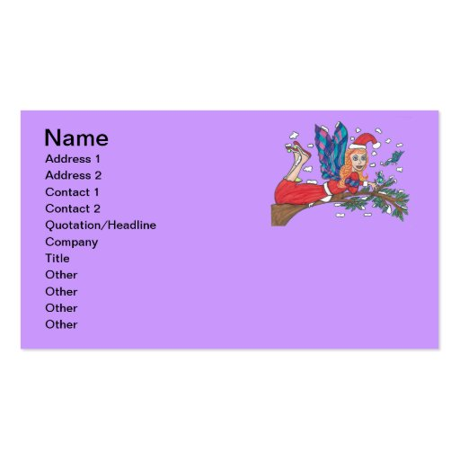 Santa Snowflake Angel Double-Sided Standard Business Cards (Pack Of 100)