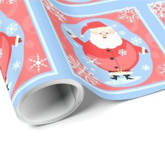 Santa Snowflake Christmas Wrapping Paper