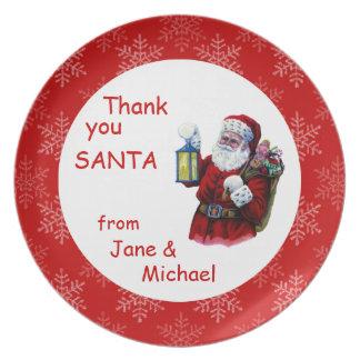 Santa Snowflakes Cookie Plate