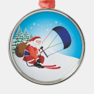 Santa Snowkite Ski Premium Ornament