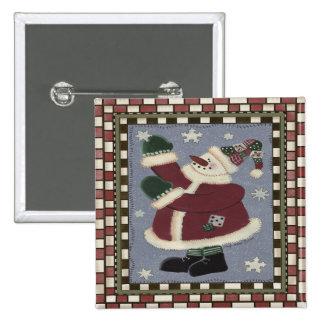 Santa Snowman Buttons
