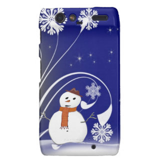 Santa Snowman Winter Christmas Holiday Destiny Droid RAZR Covers