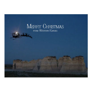 Santa sobre rocas del monumento postal
