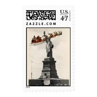 Santa sobre sello americano del navidad de Nueva