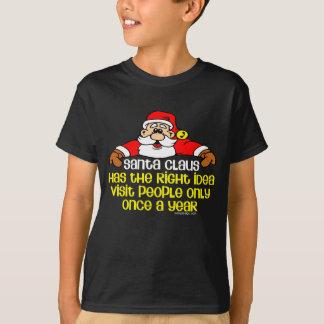 Santa social divertido camisas