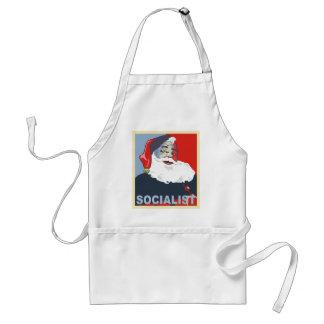 santa socialista delantal