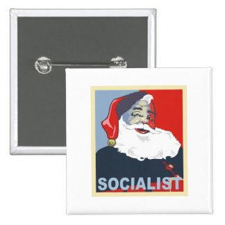 santa socialista pin cuadrado