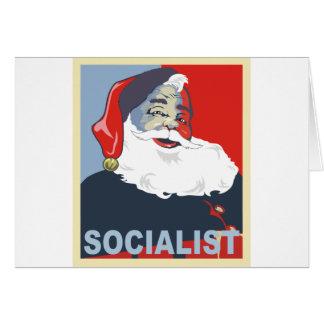 santa socialista tarjeta de felicitación