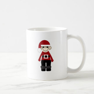 Santa Sock Monkey Coffee Mug