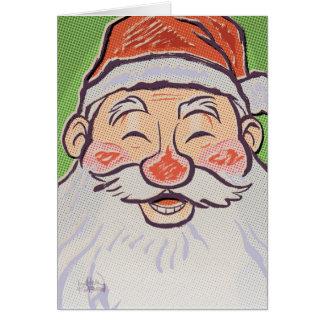 Santa sonriente tarjeta de felicitación