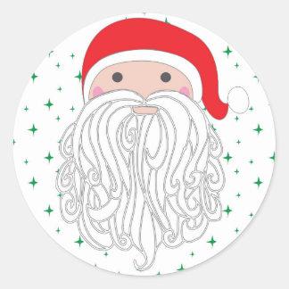 Santa Sparkle Sticker