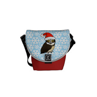 Santa Spectacled Owl Messenger Bag