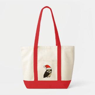 Santa Spectacled Owl Tote Bag