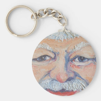 Santa Square Face Keychain