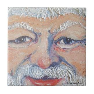 Santa Square Face Ceramic Tile