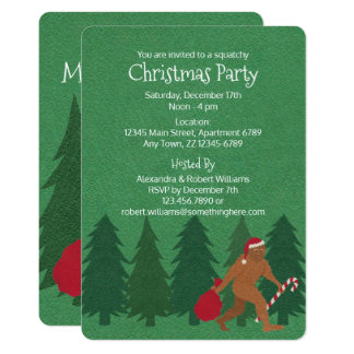 Santa Squatch Christmas Party Squatchy Fun Kids Card