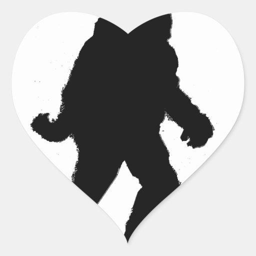 Santa Squatch Heart Sticker