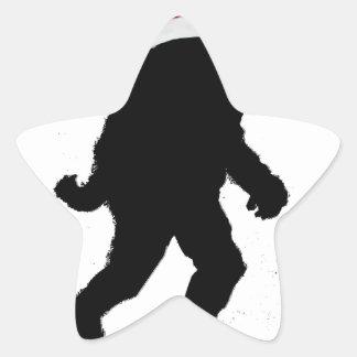 Santa Squatch Pegatina En Forma De Estrella