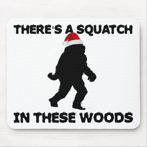 Santa Squatch Tapetes De Ratones