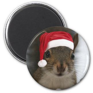 Santa Squirrel 2 Inch Round Magnet